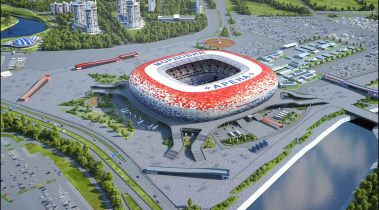 Mordovia Arena architectural illustration